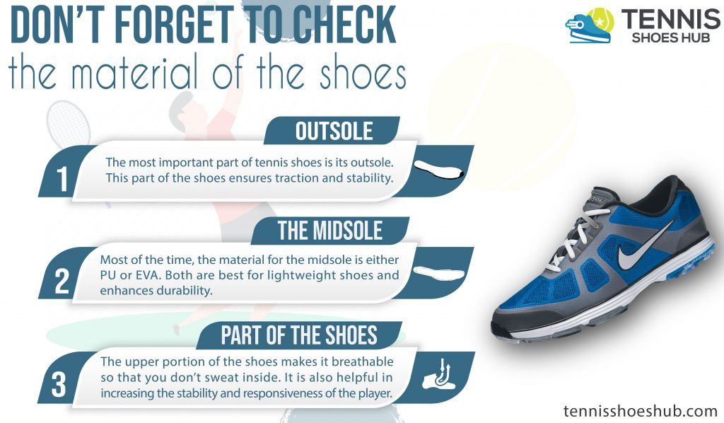 don't forget to check the material of the shoes