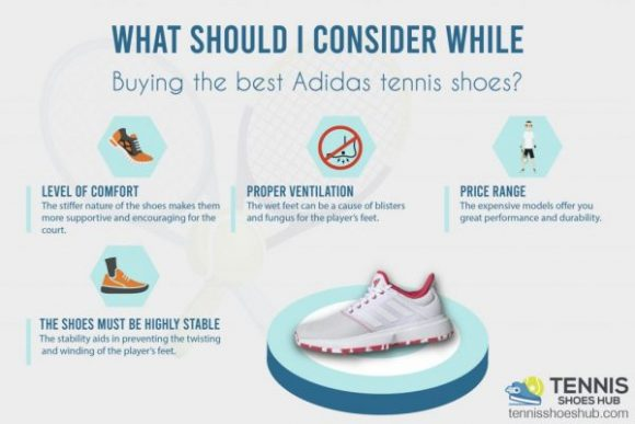 What should I consider while buying the best Adidas tennis shoes?