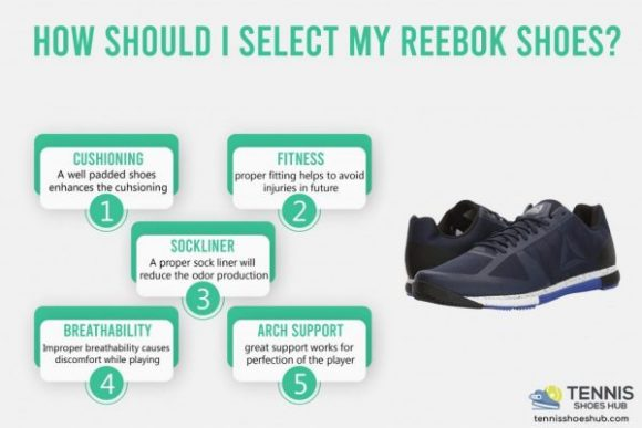How should I select my Reebok shoes?