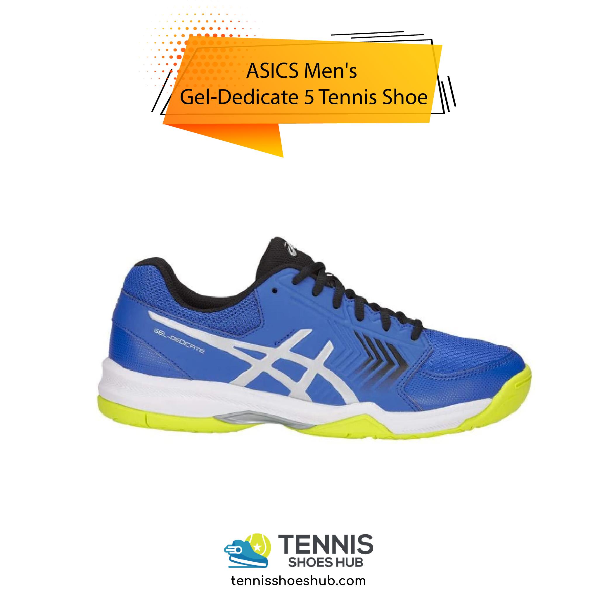 ASICS Mens Gel Dedicate 5 Tennis Shoe 01