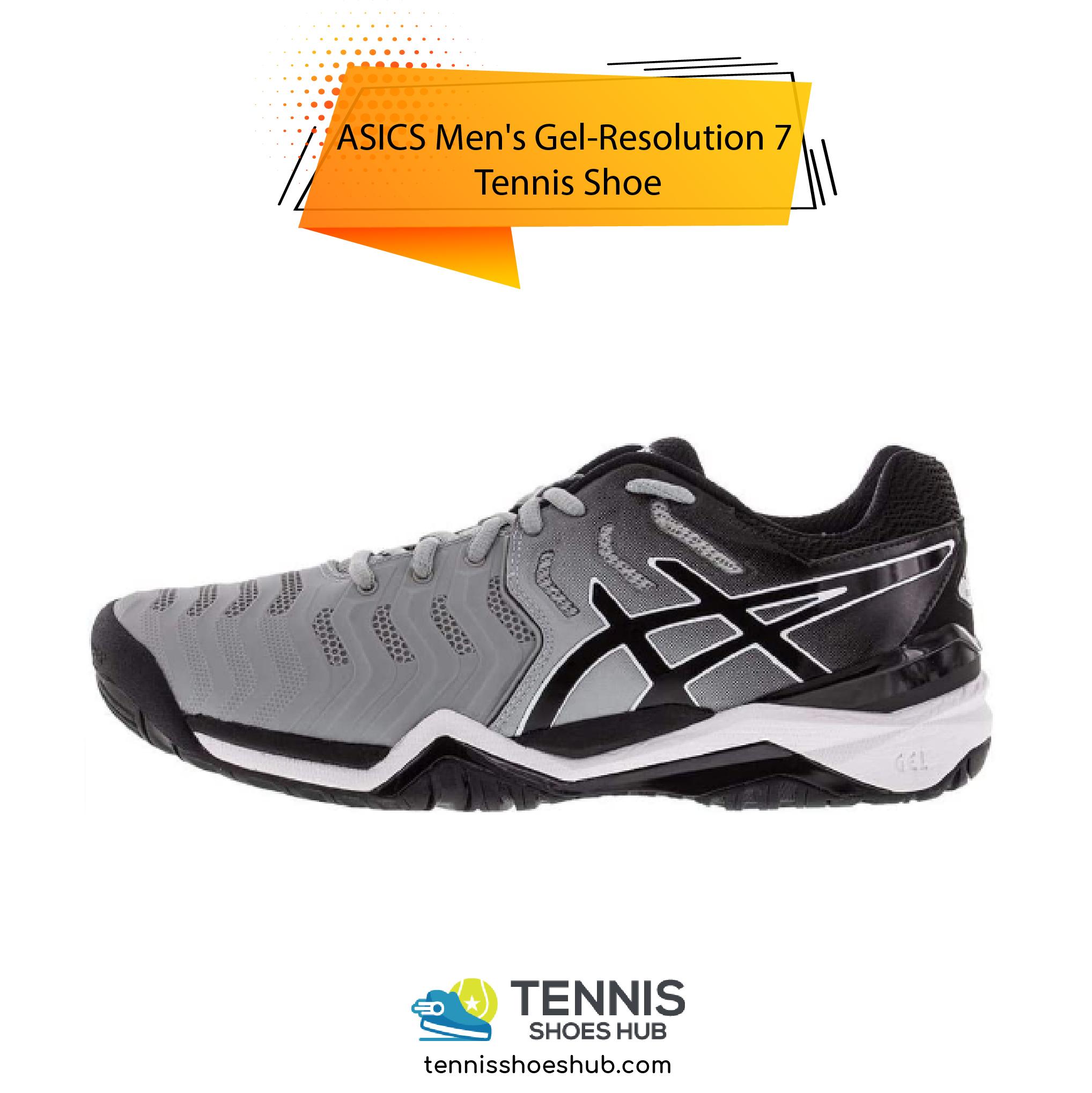 ASICS Mens Gel Resolution 7 Tennis Shoe 01